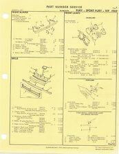 1969 Plymouth Fury Sport Fury VIP Factory OEM Part Number List gtc
