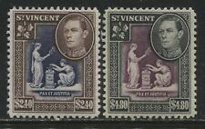 St. Vincent KGVI 1949 $2.40, and $4.80 mint o.g.