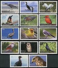 Belize Birds on Stamps 2020 MNH Bird Definitives Hawks Owls Pelicans 14v Set