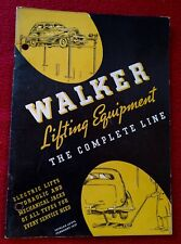 Vintage Walker Lifting Equipment 1937 Catalog Booklet Electric & Hydraulic Lifts