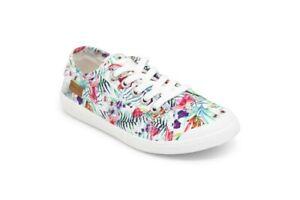 Blowfish NEW Vesper white hibiscus floral tropical print canvas trainers UK 3-8