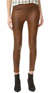 FREE PEOPLE Urban Outfitters Brown Faux Suede Leggings Pants Trousers