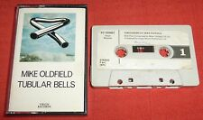MIKE OLDFIELD - UK FIRST ISSUE CASSETTE TAPE - TUBULAR BELLS - PAPER LABELS