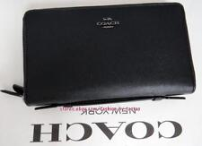NWT Coach Double Zip Travel Organizer In Crossgrain Leather F 23334 Black