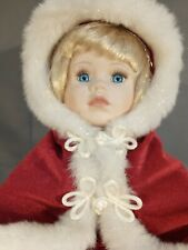 More details for music box christmas collection porcelain doll 17