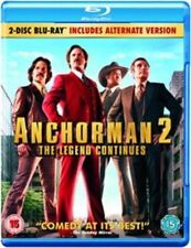 Anchorman 2 Two 2nd The Legend Continues Film Comedy Blu Ray Will Ferrell