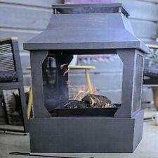 La Hacienda Square Fireplace Fire Pit Log Burner Garden Patio Heater NEW UK
