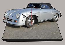 MODEL CARS, PORSCHE 356 -04, car passenger,11,8x 7,8 inches  with Clock