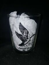 Vintage Anchor Hocking Canada Goose Old Fashioned Glass Tumbler 4.5 tall USED