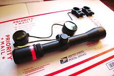 3-9x40 Fibre Optic Scope w/picatinny-weaver mounts + lens caps 3-9 x 40 fiber