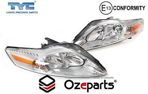 Set / Pair LH+RH Head Light Lamp (Halogen) For Ford Mondeo MA MB MC 2007~2014