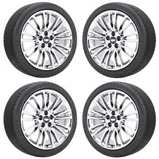 """20"""" CADILLAC CT6 PVD CHROME WHEELS RIMS TIRES FACTORY OEM 2017 2018 2019 4765"""