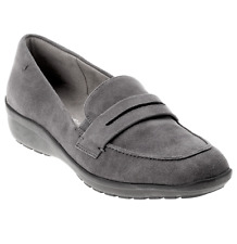 """Easy Spirit """"Solstice"""" Ladies Gray Suede Loafers Shoes size 12 M"""