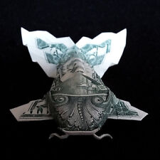 $1 Origami Dollar Bill KOI FISH Fluffy Tail 3D Money Pisces Sign Lucky Charm