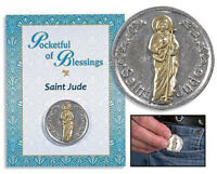 Apostle St Jude Patron of Desperate Situations Pocket Token, 1.25 Inch