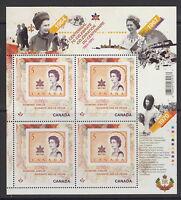 Canada #2514i Queen Elizabeth II Diamond Jubilee Mini Pane MNH