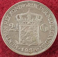 Netherlands 2 and 1/2 Gulden 1938 (F2304)