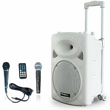 PORT-10VHF Mobile Akku Sound Anlage Lautsprecher Bluetooth USB/SD + Funkmikro