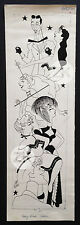 JAN MARA Cabaret CRAZY HORSE SALLON Paris Strip-Tease Caricature DESSIN 1950s