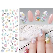 Nail Art Sticker Water Decals Transfer Stickers Ocean Seahorse Shell Starfish