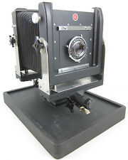 Calumet 4X5 View Field Camera Graphex Graflex Optar 135mm f/4.7 Lens Base NICE