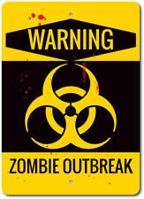 Zombie Outbreak Sign, Warning Zombie Sign, Zombie Decor ENSA1003122