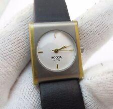 BOCCIA, Titanium Case/Buckle, 1990's Swiss Qz, RARE LADIES WATCH,1986, L@@K!