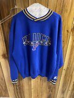 St. Louis Blues Starter Sweatshirt Spellout Sweater NHL Hockey VTG 90s Size L