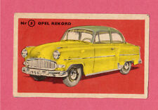 Opel Rekord Vintage 1950s Car Collector Card from Sweden