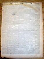 1864 Confederate Civil War newspaper SHERMANS MARCH THROUGH GEORGIA  Atlanta-Sea