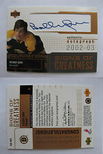 2002-03 UD Foundation Bobby Orr sign of greatness SP /48 autograph SSP auto SP