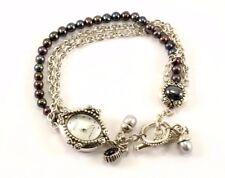 Vintage Women's Ecclissi Beads Chain Design Watch 925 Sterling OT 48