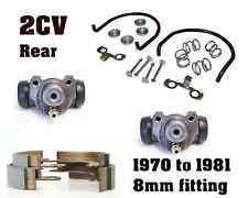 1970-1981 Citroen 2CV4/6 Rear Brake Kit: 2 cylinders, brake shoes, install kit