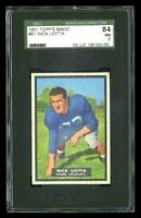 Rare 1951 Topps Magic #61 Nick Liotta Football Card SGC 84 / 7 NM