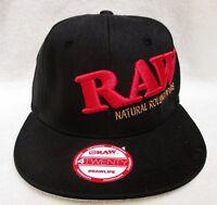 RAW 4 TWENTY HAT ROLLING PAPER BASEBALL CAP FITTED NATURAL LOGO BLACK  XL