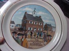 "Vtg 1976 Pfaltzgraff 11"" Collector Plate York County Court House Pennsylvania"