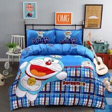 4Pcs Duvet Cover Bedding Set Mickey Minnie Mouse Single Double Size Pillow Case-