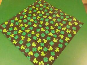 Black and Green Shamrock Handkerchief  (CL BN 41)