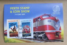 2017 Australia Perth Stamp & Coins Show Imperforated Trans-Australian Railways