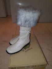 Fur trim leather boots bnib size 5