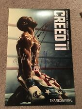 CREED 2 SIGNED 12X18 PHOTO PROOF COA AUTOGRAPHED DOLPH LUNDGREN, MUNTEANU