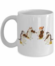 Quartet Cat Musical Coffee Mug, 11 Oz