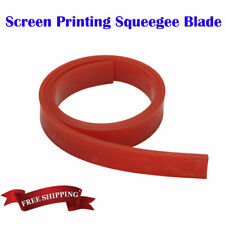 """6FT 72"""" Silk Screen Printing Squeegee Blade - 60 DURO - Polyurethane Rubber RED"""