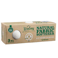 Woolzies XL Wool Dryer Balls, Gift Set of 3 ,Natural Fabric Softener