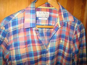 JACK WILLS Check Plaid Tartan Pinks Cotton Shirt, Small HARDLY WORN