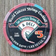 New listing Golden Gate Las Vegas $5 *Shrimp Cocktail* Limited Edition