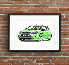 Ford Focus RS Mk2 POSTER PRINT A1 size