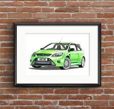Ford Focus Rs Mk2 cartel impresión Formato A1