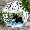 Cute Wood Ornament * Scottie Dogs Rule * Mini Hanger for peg * DecoWords USA New
