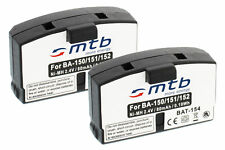2x Batería tipo BA-150/151/152 para Sennheiser Set 810S, Set 820, Set 820s